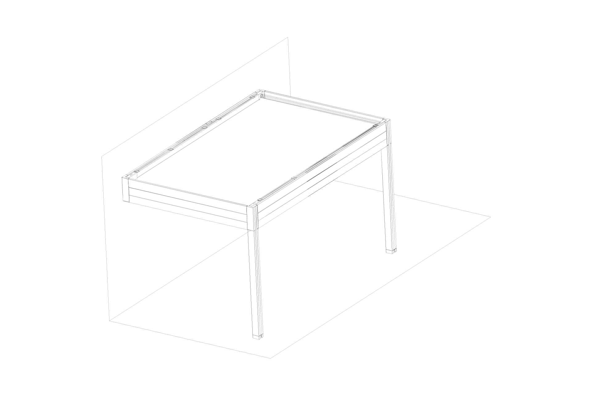 Placed single form with protruding side