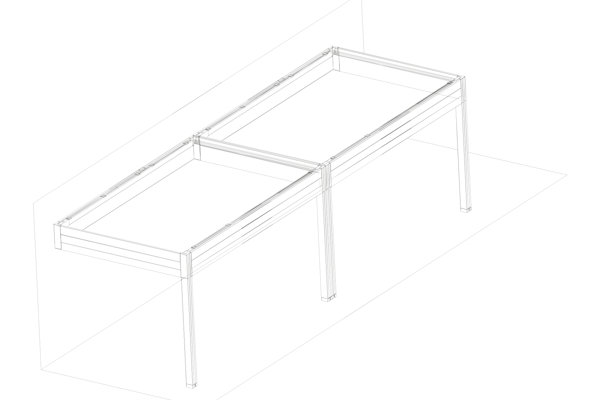 Coupling placed single form with protruding side